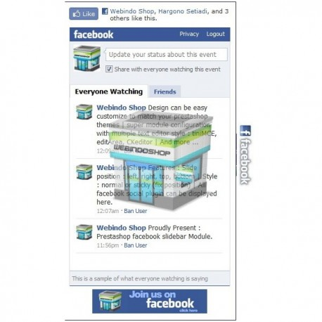 Prestashop Facebook Slidebar